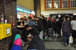 200 Flüchtlinge warteten im Bahnhof Flensburg