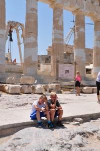 Hitze auf der Akropolis